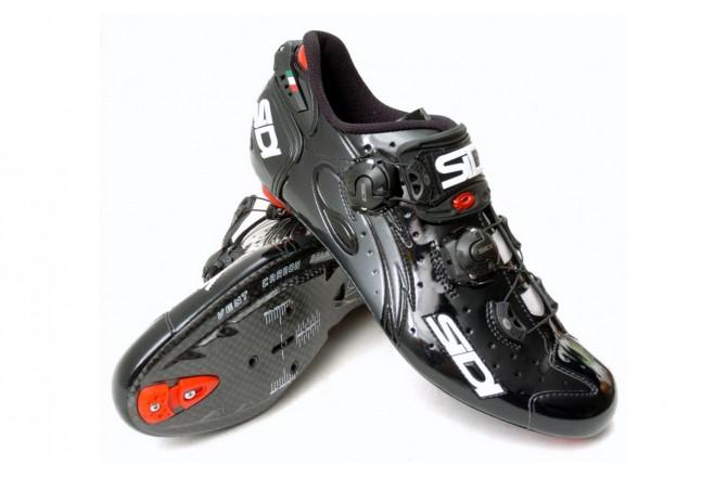 SIDI WIRE Carbon / Велотуфли белый красный лакированный, Велообувь шоссе - в интернет магазине спортивных товаров Tri-sport!