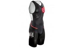 Compressport TR3 Aero Trisuit / Мужской компрессионный стартовый костюм для триатлона без рукавов