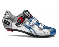 Велотуфли SIDI GENIUS 5-FIT Carbon стальной белый голубой
