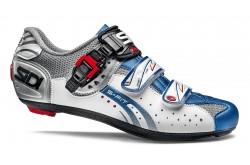 Велотуфли SIDI GENIUS 5-FIT Carbon стальной белый голубой, Для шоссе - в интернет магазине спортивных товаров Tri-sport!