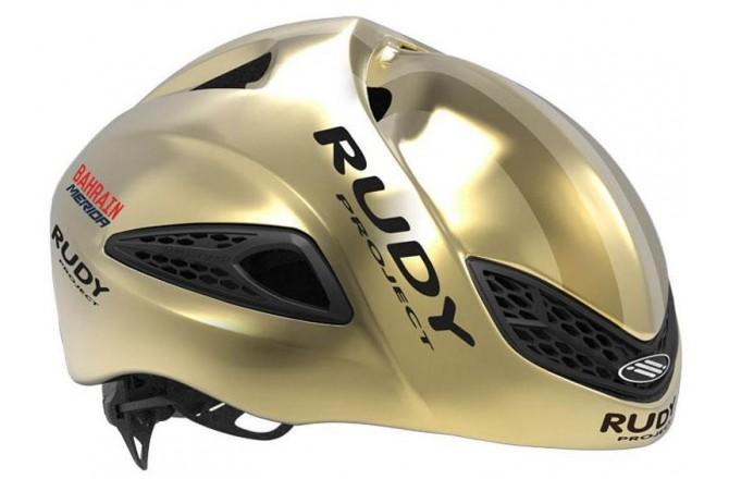 Rudy Project Boost 01 Gold Shiny Team Bahrain S / Шлем, Шлемы шоссейные - в интернет магазине спортивных товаров Tri-sport!
