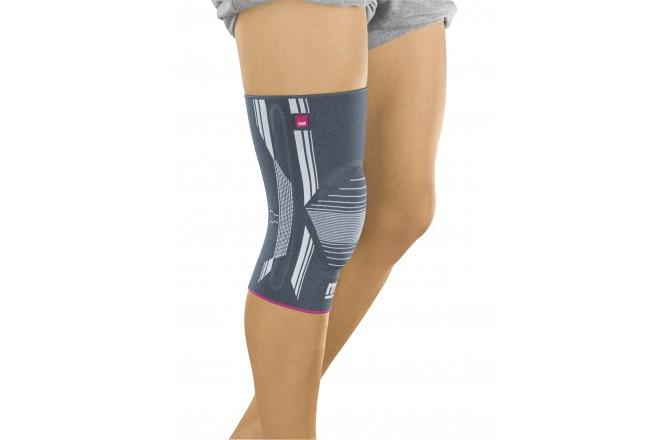 GENUMEDI III / Бандаж коленный с силиконовым пателлярным кольцом - серый, Колено - в интернет магазине спортивных товаров Tri-sport!
