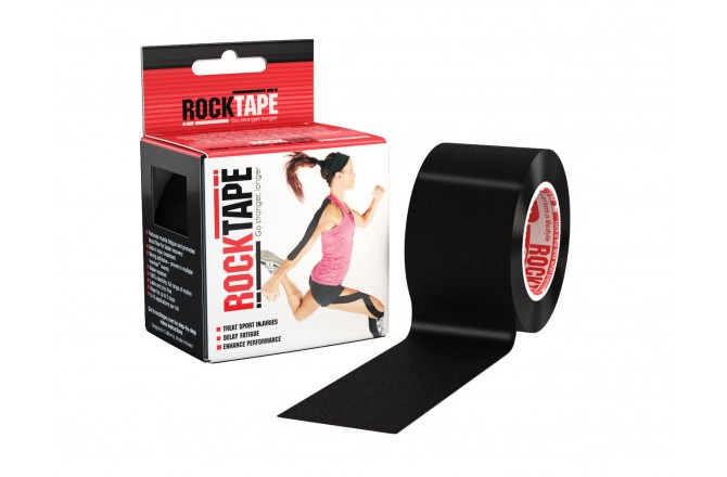 Rocktape Classic 5cm x 5m / Кинезиологический тейп черный, Тейпы - в интернет магазине спортивных товаров Tri-sport!