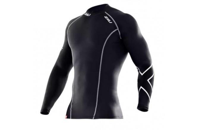 2XU Compression Long Sleeve Top / Мужская компрессионная футболка с длинными рукавами, Футболки и кофты - в интернет магазине спортивных товаров Tri-sport!