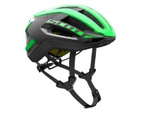 Scott Centric PLUS green flash/black / Шлем SCT17