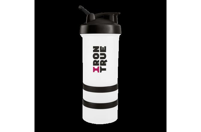 IRONTRUE Black- White 500ml / Шейкер@, Шейкеры - в интернет магазине спортивных товаров Tri-sport!