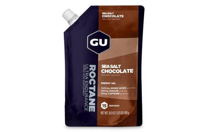 GU Roctane Energy Gel 15 порций шоколад- морская соль /  Гель энергетический 480 г, Гели - в интернет магазине спортивных товаров Tri-sport!