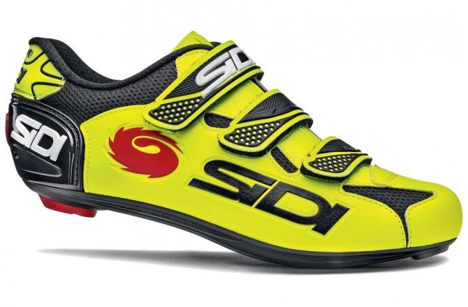 Велотуфли SIDI LOGO черный желтый fluo, Для шоссе - в интернет магазине спортивных товаров Tri-sport!