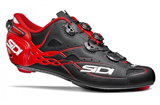 Велотуфли SIDI SHOT Carbon MATT черный/красный, Для шоссе - в интернет магазине спортивных товаров Tri-sport!