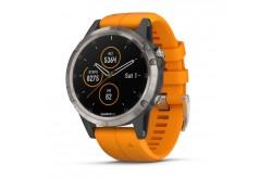 Garmin Fenix 5 Plus Sapphire Titan Оранжевый / Смарт-часы беговые с GPS, HR и Garmin Pay, Пульсометры - в интернет магазине спортивных товаров Tri-sport!