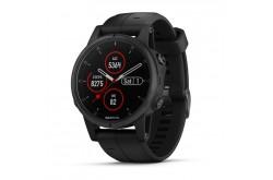Garmin Fenix 5S Plus Sapphire Черный / Смарт-часы беговые с GPS, HR, WiFi и Garmin Pay, Пульсометры - в интернет магазине спортивных товаров Tri-sport!