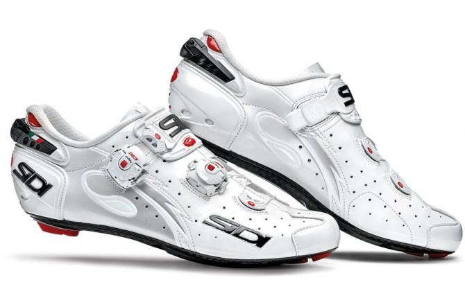Велотуфли SIDI WIRE Carbon белый/белый лакированный, Для шоссе - в интернет магазине спортивных товаров Tri-sport!