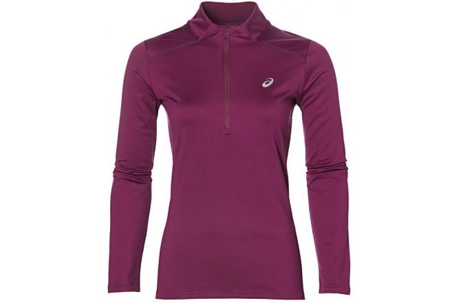 Asics Ess Winter 1 / 2 Zip (W)/Рубашка Беговая Женская, Бордовая, Утепленные футболки - в интернет магазине спортивных товаров Tri-sport!