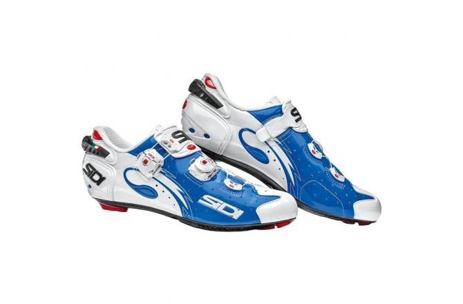Велотуфли SIDI WIRE Carbon синий/белый лакированный, Для шоссе - в интернет магазине спортивных товаров Tri-sport!