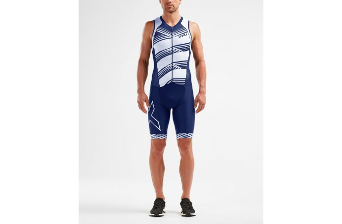 2XU Compression FullZip Trisuit 2019 / Мужской стартовый компрессионный костюм без рукавов, Стартовые костюмы - в интернет магазине спортивных товаров Tri-sport!