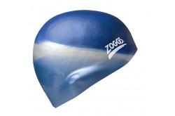 Zoggs Multi Colour Cap (серебристый/синий) / Шапочка для плававния