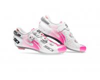 SIDI WIRE Carbon Air / Велотуфли лакированный белый/ярко-розовый