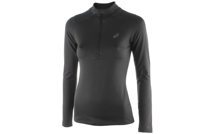 Asics ESS WINTER 1/2 ZIP  (W)   /Рубашка беговая женская, Черная, Утепленные футболки - в интернет магазине спортивных товаров Tri-sport!