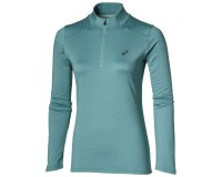 Asics ESS WINTER 1/2 ZIP  (W)   /Рубашка беговая женская, Бирюзовая