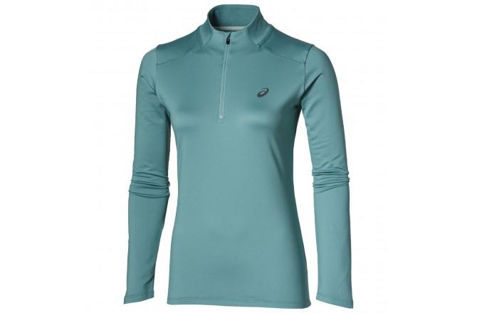 Asics ESS WINTER 1/2 ZIP  (W)   /Рубашка беговая женская, Бирюзовая, Утепленные футболки - в интернет магазине спортивных товаров Tri-sport!