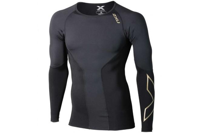 2XU elite compression top l / s / Мужская элитная компрессионная футболка дл.рук, Футболки и кофты - в интернет магазине спортивных товаров Tri-sport!