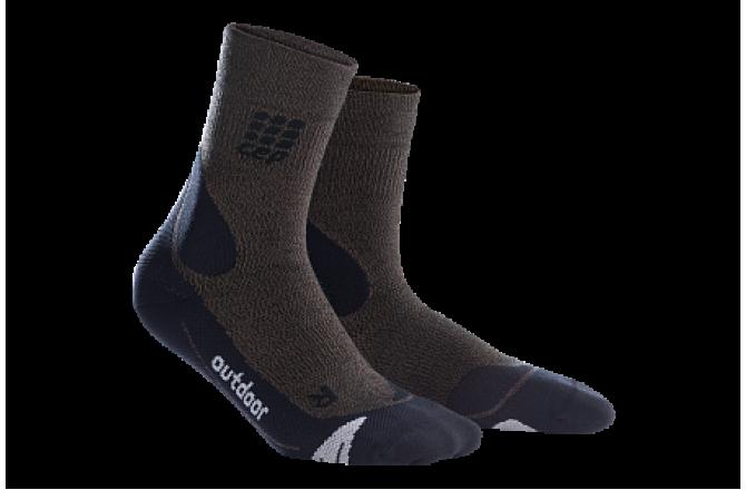 CEP Outdoor Merino Mid-Cut Socks / Женские компрессионные носки, с шерстью мериноса, Компрессионные гольфы и гетры - в интернет магазине спортивных товаров Tri-sport!