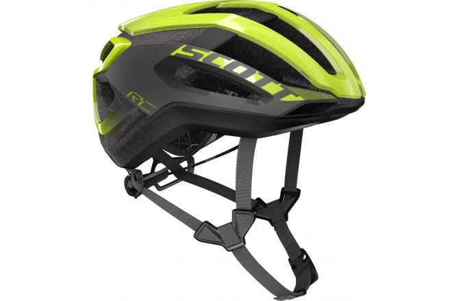 Scott Centric PLUS yellow RC/dark grey / Шлем велосипедный, Шлемы шоссейные - в интернет магазине спортивных товаров Tri-sport!