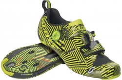 Scott Road Tri Carbon gloss black/sulphur yellow / Велотуфли для триатлона