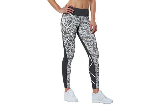 2XU W`s Pattern Mid-Rise Compression Tights / Женские тайтсы, Компрессионные шорты и тайтсы - в интернет магазине спортивных товаров Tri-sport!