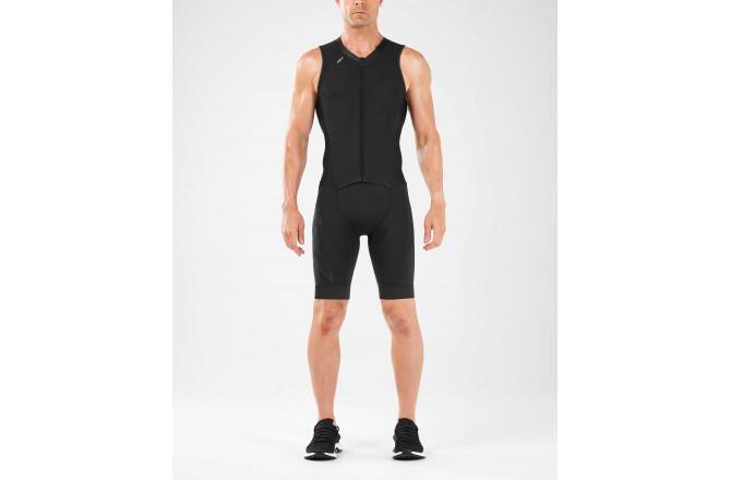 2XU Compression FullZip Trisuit / Мужской компрессионный стартовый костюм без рукавов, Стартовые костюмы - в интернет магазине спортивных товаров Tri-sport!