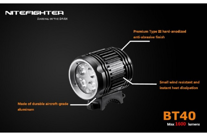 Фара NiteFighter BT40, Фонарики - в интернет магазине спортивных товаров Tri-sport!