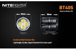 Фара NiteFighter BT40S, Фонарики - в интернет магазине спортивных товаров Tri-sport!