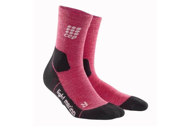 CEP Outdoor Light Merino Mid-Cut Socks / Женские компрессионные носки, тонкие, с шерстью мериноса, Носки - в интернет магазине спортивных товаров Tri-sport!