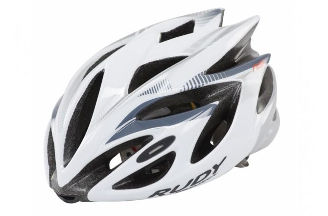 Каска Rudy Project Rush White/Silver Shiny L, Шлемы - в интернет магазине спортивных товаров Tri-sport!