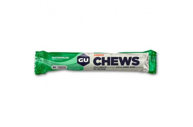 GU Energy Chews арбуз /  Конфеты жевательные, Гели - в интернет магазине спортивных товаров Tri-sport!