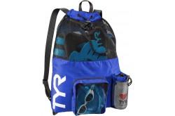 TYR Big Mesh Mummy Bag Голубой / Рюкзак для аксессуаров, Аксессуары для плавания - в интернет магазине спортивных товаров Tri-sport!