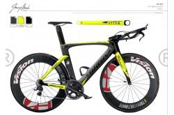 Велосипед Шоссейный Wilier Twin Blade Crono'16 Ultegra RS010 черн./жетлый fluo, Велосипеды для триатлона и ТТ - в интернет магазине спортивных товаров Tri-sport!