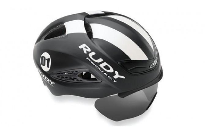 Rudy Project Boost 01 + Визор Black - White Matt S/M / Шлем, Шлемы для триатлона - в интернет магазине спортивных товаров Tri-sport!