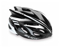 Rudy Project RUSH BLACK/WHITE SHINY MIPS S / Каска