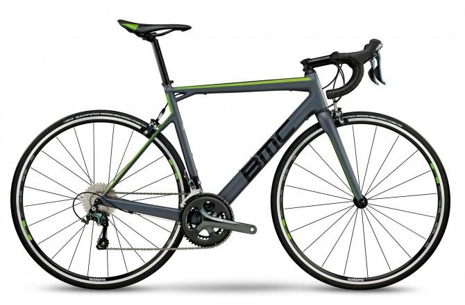 BMC Teammachine SLR03 TWO Grey/Black/Green Tiagra 2018 / Велосипед шоссейный, Шоссейные - в интернет магазине спортивных товаров Tri-sport!