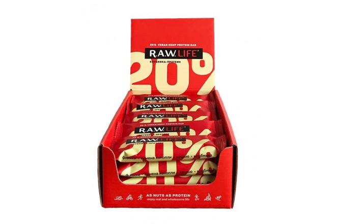 R.A.W. Life Клубника-Протеин  47g/ Энергетический батончик, Батончики - в интернет магазине спортивных товаров Tri-sport!