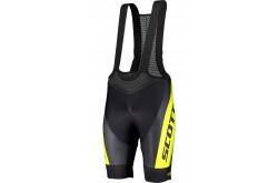 Scott RC Pro +++ black/sulphur yellow / Велотрусы с лямками, Велоодежда - в интернет магазине спортивных товаров Tri-sport!