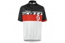 Майка Scott RC Team к/рук white/fiery red, Велоодежда - в интернет магазине спортивных товаров Tri-sport!