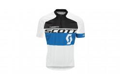 Майка Scott RC Team к/рук white/empire blue, Велоаксессуары - в интернет магазине спортивных товаров Tri-sport!