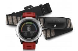 Garmin FENIX® 3 HRM / Часы с серебряный с красным ремешком и пульсометром, Пульсометры - в интернет магазине спортивных товаров Tri-sport!