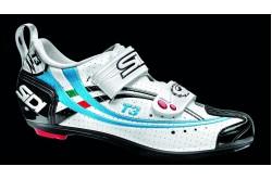 SIDI T-3 WOMAN AIR CARB COMP / Велотуфли белый черный голубой, Велотуфли для триатлона - в интернет магазине спортивных товаров Tri-sport!