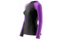 Skins Bio A200 Womens Black/Violet Thermal L/S Top / Термофутболка женская, Компрессионное термобелье - в интернет магазине спортивных товаров Tri-sport!