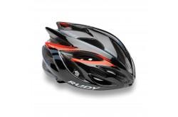 Каска Rudy Project RUSH BLACK - RED FLUO SHINY  L, Шлемы - в интернет магазине спортивных товаров Tri-sport!