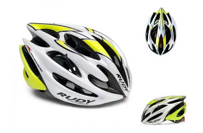 Rudy Project STERLING WHITE/YELL FLU/BLK SHINY L, Шлемы - в интернет магазине спортивных товаров Tri-sport!