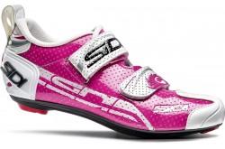 SIDI T-4 AIR CARBON COMP / Велотуфли фуксия/белый, Велотуфли для триатлона - в интернет магазине спортивных товаров Tri-sport!